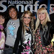 NLD/Bussum/20100122 - Bekendmaking artiesten Nationaal Songfestival 2010, Sieneke, Vinzzent, Marlous, Peggy
