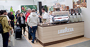 The London Coffee Festival <br /> Truman Brewery, Brick Lane, London, Great Britain <br /> 6th April 2017 <br /> <br /> General atmosphere on the opening day of the London Coffee Festival <br /> <br /> <br /> <br /> Photograph by Elliott Franks <br /> Image licensed to Elliott Franks Photography Services