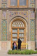 Golestan Place polychromatic tiled exterior, Tehran, Iran.