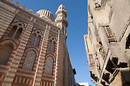 Egypt. Cairo -Madrassa UM AL sultan Shaban - Cha'Ban - before and after renovation   in Darb al Ahmar  street, islamic Cairo     NM125 +
