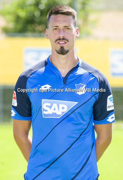 German Bundesliga - Season 2016/17 - Photocall 1899 Hoffenheim on 19 July 2016 in Zuzenhausen, Germany: Sandro Wagner. Photo: APF | usage worldwide
