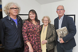 John McHugh ,Juliet Christy Barron Anna Hawkshaw and Michael Gibbons  pictured at the launch of Western Ways the book and exhibition 'Remembering Mayo through the eyes of Helen Hooker and Ernie O'Malley' The launch took place at the Custom House Studios gallery as part of this years Rolling Sun Book festival and the exhibition continues at the gallery until the 22nd of November.<br /> Pic Conor McKeown