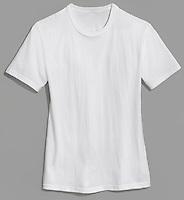 hanes plain white t-shirt on grey background