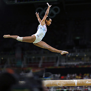Gymnastics - Olympics: Day 10  Marine Boyer #333 of France performing her routine in the Women's Balance Beam Final during the Artistic Gymnastics competition at the Rio Olympic Arena on August 15, 2016 in Rio de Janeiro, Brazil. (Photo by Tim Clayton/Corbis via Getty Images)