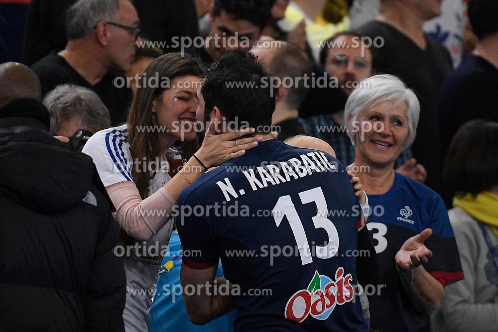 Karabatic Nikola and his family after 25th IHF men's world championship 2017 match between France and Slovenia at Accord hotel Arena on january 26 2017 in Paris. France. PHOTO: CHRISTOPHE SAIDI / SIPA / Sportida