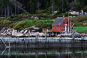 Fisherman's shack, Stonington, deer Isle, Maine, USA