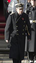 Prinz Philip, Duke Of Edinburgh beim Remembrance Sunday in London / 131116 *** Remembrance Sunday, London, 13 Nov 2016 ***