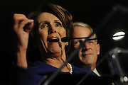 US Election Day 2012..Nancy Pelosi, the Democrat minority leader of the House of Congress in Washington DC speaks to the Democrat Senatorial Campaign Committee.