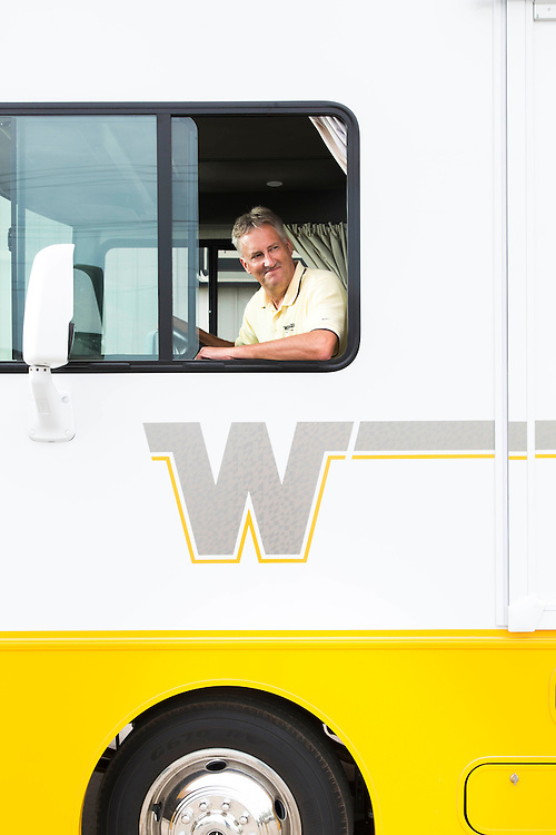 Randy Potts is CEO of Winnebago Industries and was pictured at the company's production plant in Forest City, Iowa, on Thursday, August 07, 2014.