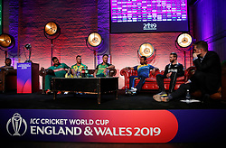 A general view of the Cricket World Cup captain's launch event at The Film Shed, London.