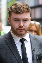 Niall Galbally gives a statement outside The Old Bailey in London following the sentencing of Kasim Lewis for the murder of his mother. London, July 18 2019.