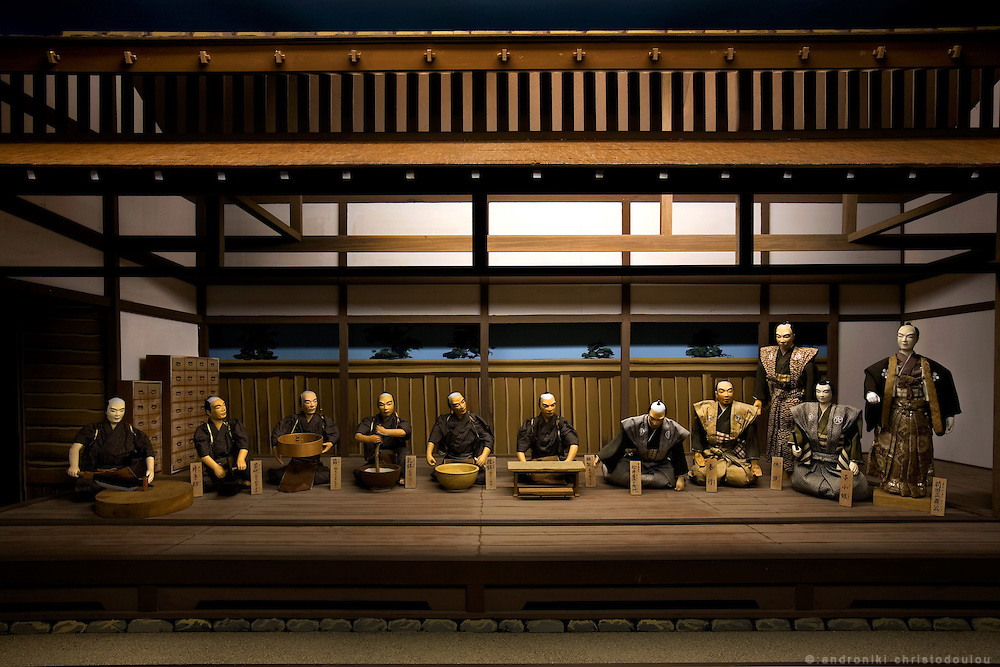 "TOYAMA MEDICINE.Display of the making of medicine in ""Kanaoka residence"" in Toyama city..Kanaoka Residence is a rare museum in Japan that preserves and exhibits a lot of materials of the 300-year history of Toyama?s medicine business as well as a wide range of materials relating to Japan's pharmaceutical industry. Its main building retains the characteristic structure of a medicine shop from the early Meiji Era. Araya (family's guesthouse) is an all-cypress building that shows a traditional wooden structure..Toyama prefecture is located near the center of Japan and is approximately the same distance from the three largest cities in Japan-Tokyo, Nagoya and Osaka. Toyama's pharmaceutical tradition has a more than 300 years history. As it is located on the Japan sea, it is facing China and has been an importer of traditional Chinese medicine knowledge which it developed through the years. There are now approximately 100 manufactures and over 100 factories in Toyama in terms of pharmaceutical products and Toyama prefecture acquires a steady reputation as Japan's medicine manufacturing base."