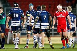 Bristol Rugby replacement Sam Jeffries looks on - Mandatory byline: Rogan Thomson/JMP - 22/01/2016 - RUGBY UNION - Ashton Gate Stadium - Bristol, England - Bristol Rugby v Ulster A - British & Irish Cup.