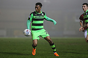 Forest Green Rovers Tahvon Campbell(25) during the Gloucestershire Senior Cup match between Forest Green Rovers and U23 Bristol City at the New Lawn, Forest Green, United Kingdom on 9 April 2018. Picture by Shane Healey.