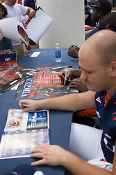 "The Virginia Cavaliers football team held their annual ""Meet the Team"" event at Scott Stadium in Charlottesville, VA on August 12, 2007.  The event was open to the public and gave fans the opportunity to meet the players on the team and get their autographs."