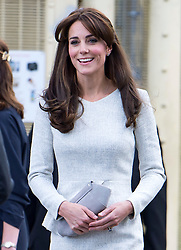 © Licensed to London News Pictures. 25/09/2015. Woking, UK. Catherine, The Duchess of Cambridge leaving the main security gate following a visit to the Rehabilitation of Addicted Prisoners Trust at HM Prison Send, a closed category women's prison, on September 25, 2015. Photo credit: Ben Cawthra/LNP