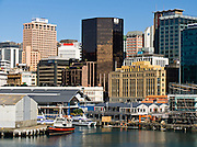 Wellington downtown waterfront, Lambton Harbor, New Zealand, North Island