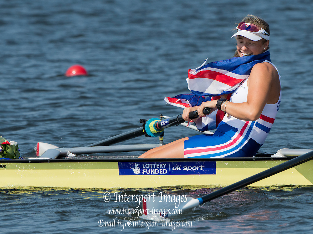 Rotterdam. Netherlands.  GBR W4- Bow. Fiona GAMMOND, Donna ETIEBET, Holly<br /> NIXON and Holly NORTON,   {WRCH2016}  at the Willem-Alexander Baan.   Saturday  27/08/2016 <br /> <br /> [Mandatory Credit; Peter SPURRIER/Intersport Images]