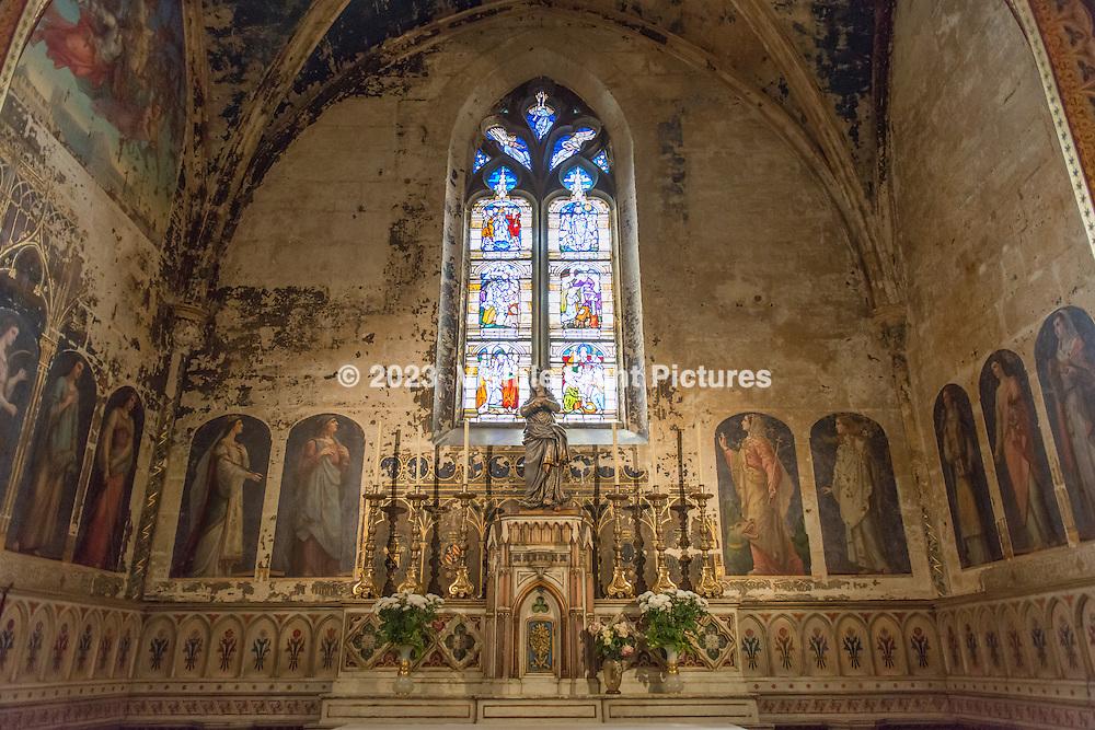 Interior of St. Pierre Church in Avignon, France