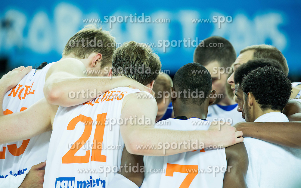 Players of Netherlands after the basketball match between Netherlands and Macedonia at Day 2 in Group C of FIBA Europe Eurobasket 2015, on September 6, 2015, in Arena Zagreb, Croatia. Photo by Vid Ponikvar / Sportida