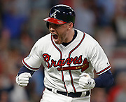 ATLANTA, GA - OCTOBER 8:  during Game 3 of the NLDS between the Los Angeles Dodgers and the Atlanta Braves at SunTrust Park on Sunday, October 8, 2018 in Atlanta, Georgia. (Photo by Mike Zarilli/MLB Photos via Getty Images) *** Local Caption *** PLAYERNAME