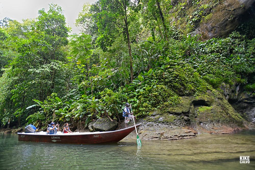 Tourists exploring the National Natural Park of Uramba,  Bahia Malaga, Colombian Pacific Coast