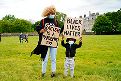 Edinburgh, Scotland, UK. 7 June 2020.  Black Lives Matter protest demonstration at Holyrood Park in Edinburgh. Iain Masterton/Alamy Live News