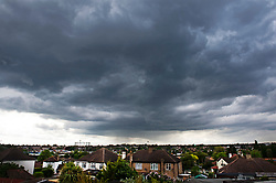 © Licensed to London News Pictures. 02/05/2019.<br /> Orpington,UK. Dark rain clouds over South East London late this afternoon as the May bank holiday weekend looks to be cold and frosty according to The Met Office. Photo credit: Grant Falvey/LNP