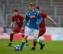 ST HELENS, ENGLAND - Monday, December 10, 2018: Napoli's Alessio Esposito during the UEFA Youth League Group C match between Liverpool FC and SSC Napoli at Langtree Park. (Pic by David Rawcliffe/Propaganda)