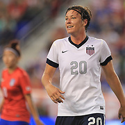 Abby Wambach, USA, in action while becoming the greatest goal scorer in international soccer. Wambach scored four goals during the U.S. Women's 5-0 victory over Korea Republic, friendly soccer match. The four goals brings her tally to 160 goals which eclipsed Mia Hamm's all-time goal record of 158 goals.  Red Bull Arena, Harrison, New Jersey. USA. 20th June 2013. Photo Tim Clayton