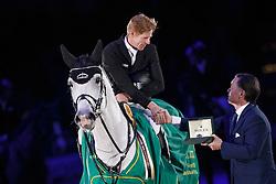Ehning Marcus, (GER), Cornado NRW <br /> Winner of the Rolex Grand Prix<br /> Indoor Brabant - 's Hertogenbosch 2016<br /> © Hippo Foto - Dirk Caremans<br /> 13/03/16