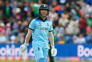 Eoin Morgan of England during the ICC Cricket World Cup 2019 match between England and Bangladesh the Cardiff Wales Stadium at Sophia Gardens, Cardiff, Wales on 8 June 2019.