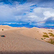 Death Valley National Park, (DVNP) Sand Dunes, panorama, Desert, Great Basin