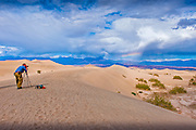 Rainbow, Death Valley National Park, Stovepipe Wells, Sand Dunes, Photographer, Panamint Valley, DVNP,