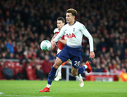 December 19, 2018 - London, England, United Kingdom - London, UK, 19 December, 2018.Tottenham Hotspur's Dele Alli in Action .during Carabao Cup Quarter - Final between Arsenal and Tottenham Hotspur  at Emirates stadium , London, England on 19 Dec 2018. (Credit Image: © Action Foto Sport/NurPhoto via ZUMA Press)