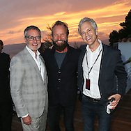 CAP D'ANTIBES, FRANCE - JUNE 23:  iHeartMedia Chairman And CEO Bob Pittman, Sting and John Sykes attend a dinner party hosted by iHeartMedia and Medialink at Hotel du Cap-Eden-Roc in Antibes, France during the Cannes Lions Festival, featuring a special performance by Sting.  (Photo by Tony Barson/Getty Images for iHeartMedia)