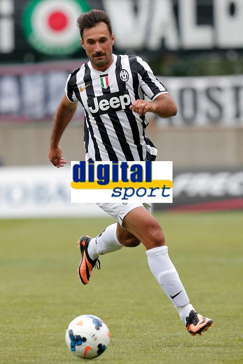 Mirko Vucinic Juventus, Saint Vincent 17/7/2013 <br /> Partita amichevole Juventus vs Dilettanti Valdostani<br /> Football Calcio 2013/2014 Serie A<br /> Foto Marco Bertorello Insidefoto