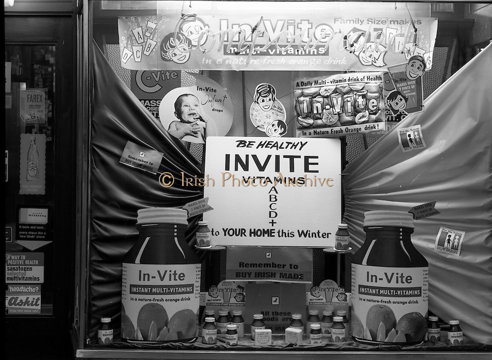 14/2/1966<br /> 2/14/1966<br /> 14 February 1966<br /> <br /> Window Displays at Malahide Rd. Dublin