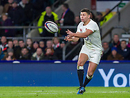 Ben Youngs in action, England v France in a RBS 6 Nations match at Twickenham Stadium, London, England, on 4th February 2017.