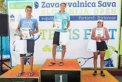Kids Fest's Trophy ceremony during Day 9 of ATP Challenger Zavarovalnica Sava Slovenia Open 2018, on August 11, 2018 in Sports centre, Portoroz/Portorose, Slovenia. Photo by Vid Ponikvar / Sportida
