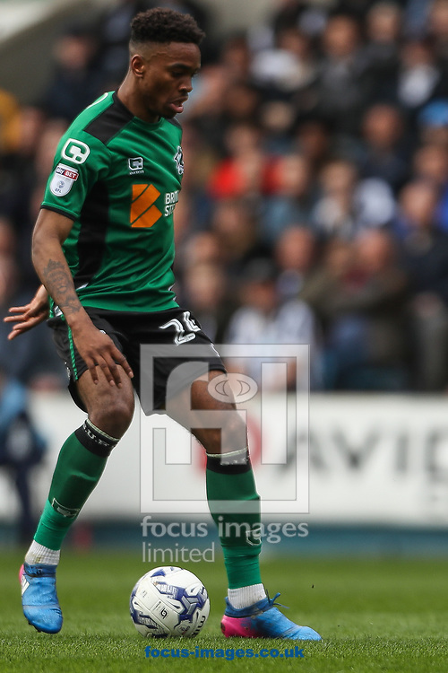 Ivan Toney of Scunthorpe United in action during the Sky Bet League 1 match at The Den, London<br /> Picture by Toyin Oshodi/Focus Images Ltd 07984788195<br /> 01/04/2017