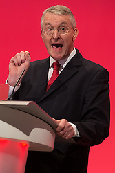 © Licensed to London News Pictures . 28/09/2015 . Brighton , UK . HILARY BENN speaks at the 2015 Labour Party Conference . Photo credit : Joel Goodman/LNP