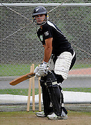 Dean Brownlie bats in the nets, Black Caps Training Session, at the University oval, Dunedin, New Zealand. Thursday 2 February 2012 . Photo: Richard Hood photosport.co.nz