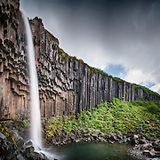 Svartifoss is a waterfall near Skaftafell in Southeast-Iceland.