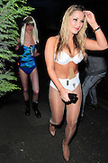 03.APRIL.2011. LONDON<br /> <br /> THE ONLY WAY IS ESSEX STARS HARRY DERBRIDGE DRESSED AS LADY GAGA AND SAM FAIERS DRESSED AS THE FORMER BOND GIRL HONEY RYDER ARRIVING AT THE HARRY DERBRIDGE 17TH FANCY DRESS BIRTHDAY PARTY IN ESSEX.<br /> <br /> BYLINE: EDBIMAGEARCHIVE.COM<br /> <br /> *THIS IMAGE IS STRICTLY FOR UK NEWSPAPERS AND MAGAZINES ONLY*<br /> *FOR WORLD WIDE SALES AND WEB USE PLEASE CONTACT EDBIMAGEARCHIVE - 0208 954 5968*