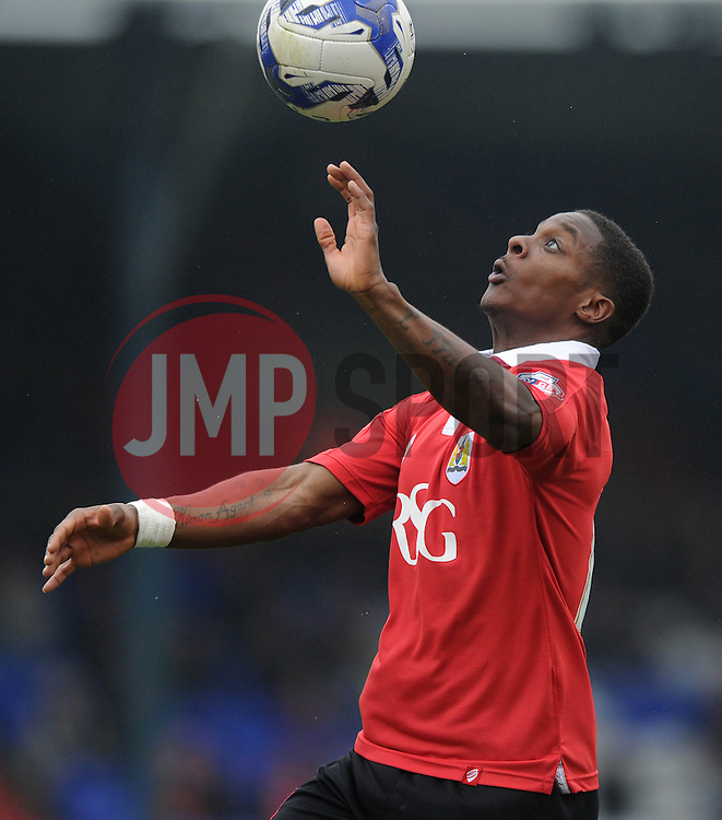 Bristol City's Kieran Agard - Photo mandatory by-line: Dougie Allward/JMP - Mobile: 07966 386802 - 03/04/2015 - SPORT - Football - Oldham - Boundary Park - Bristol City v Oldham Athletic - Sky Bet League One