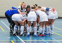 BARNEVELD - Hoofdklasse zaalhockey dames. Den Bosch-Rotterdam (1-0).  Team Rotterdam. COPYRIGHT KOEN SUYK
