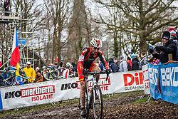 Javier RUIZ DE LARRINAGA IBANEZ (54,ESP), 7th lap at Men UCI CX World Championships - Hoogerheide, The Netherlands - 2nd February 2014 - Photo by Pim Nijland / Peloton Photos