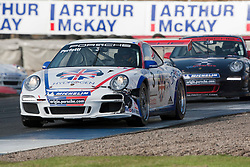 Car 3 - Daniele Perfetti, Porche Carrera Cup..British Touring Car Championship at Knockhill, Sunday 4th September 2011. .© pic Michael Schofield.