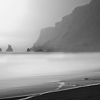 Troll-shapped rocks close to Vik in Iceland